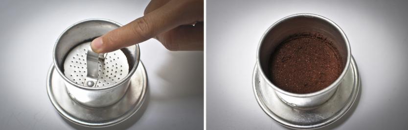 Cách pha cà phê phin ngon -  Cà phê nguyên chất - bước 3