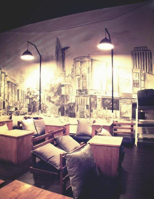Quán cafe acoustic say 1