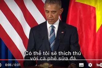 Ông Obama nói tôi thích uống 'cà phê sữa đá' bằng tiếng Việt khiến dân tình 'rụng tim'