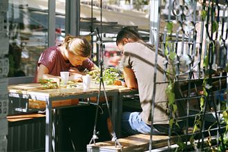 Quán An Cafe thú vị nằm giữa 5 cây anh đào cổ thụ tại Đà Lạt