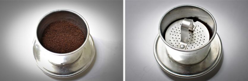 Cách pha cà phê phin ngon -  Cà phê nguyên chất - bước 1 và bước 2