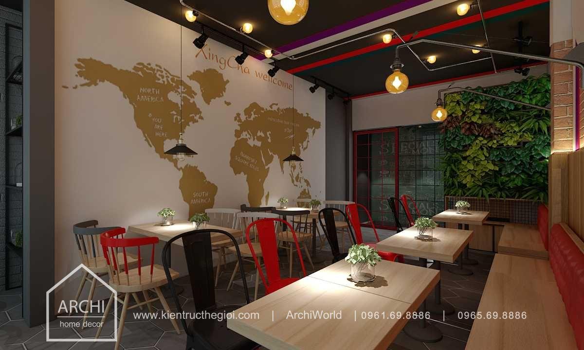 Thiết kế quán cafe nhỏ đẹp theo phong cách hiện đại. Ảnh 6