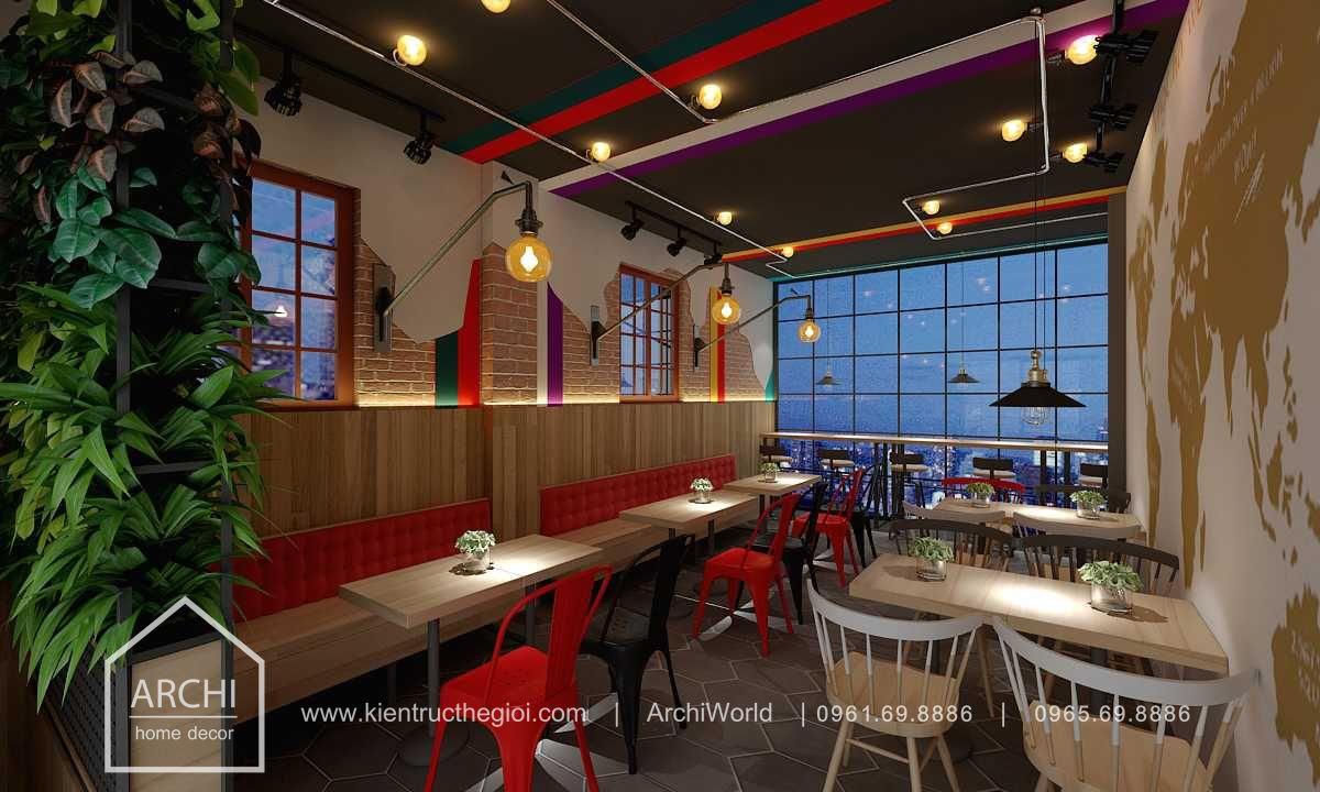 Thiết kế quán cafe nhỏ đẹp theo phong cách hiện đại. Ảnh 5