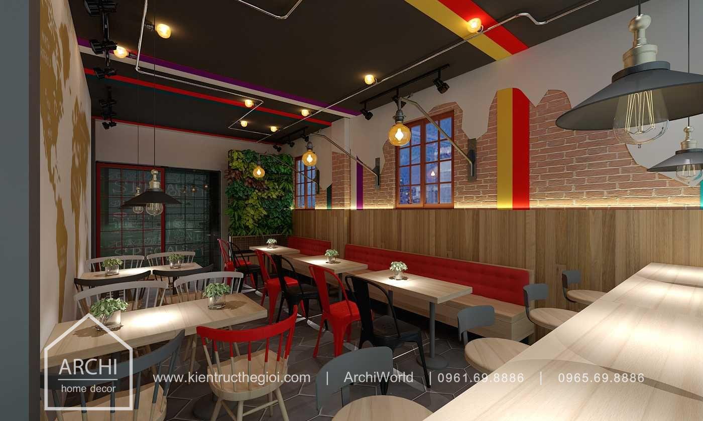 Thiết kế quán cafe nhỏ đẹp theo phong cách hiện đại. Ảnh 4